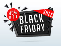 Black Friday Sale Poster, Banner or Flyer. Stock Photo