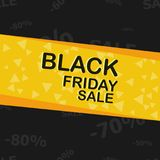 Black Friday sale poster Royalty Free Stock Photography