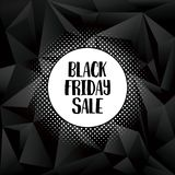 Black friday sale poster or banner vector template with creative retro handwritten typography with halftone shadow. Holiday season sale, special offer. Eps10 royalty free illustration