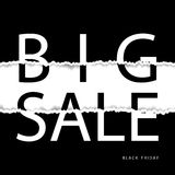 Black friday sale poster. Black friday sale banner. Torn paper effect. Stock Image