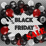Black Friday Sale Poster Stock Images