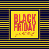 Black Friday Sale Poster design Royalty Free Stock Photography