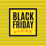 Black Friday Sale Poster design Royalty Free Stock Photos