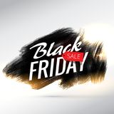 Black friday sale poster design with brush paint effect and yell Stock Image