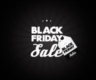 Black Friday Sale poster element. Creative lettering. Trendy. Sale Vector. Royalty Free Stock Photo