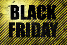 Black Friday sale poster in grunge style Royalty Free Stock Image