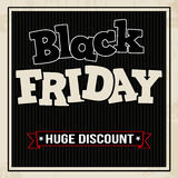 Black friday sale poster Royalty Free Stock Image