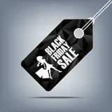Black friday sale poster. Low polygonal background Stock Photography
