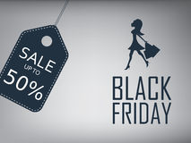 Black friday sale poster. Special offer template Royalty Free Stock Images