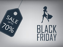 Black friday sale poster. Special offer template Royalty Free Stock Image