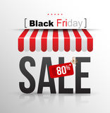 Black Friday sale poster with tag banner Royalty Free Stock Photography