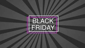 Black Friday sale poster template on pink background. royalty free illustration