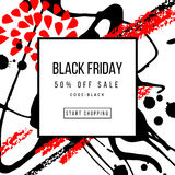 Black Friday Sale Poster Template Stock Photo