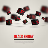 Black Friday Sale Poster. Vector Illustration Royalty Free Stock Photography