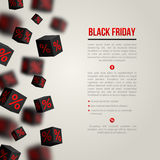 Black Friday Sale Poster. Vector Illustration Stock Images