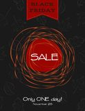 Black friday sale poster. Vector promotional poster for black friday sale stock illustration