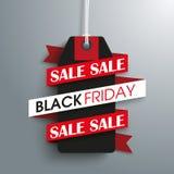 Black Friday Sale Price Sticker Ribbon Royalty Free Stock Photo