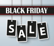 Black Friday Sale 4 Price Stickers Banner. Black Friday price stickers with text sale Stock Photos