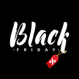 Black Friday Sale. Promo Abstract Calligraphic Vector Illustration for your business artwork. Stock Photography