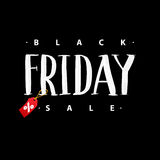 Black Friday Sale. Promo Abstract Calligraphic Vector Illustration for your business artwork. Stock Image