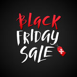 Black Friday Sale. Promo Abstract Calligraphic Vector Illustration for your business artwork. Royalty Free Stock Images