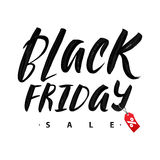 Black Friday Sale. Promo Abstract Calligraphic Vector Illustration for your business artwork. Stock Images