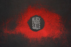 Black Friday Sale promo Design for Polygraphy. Creative Art Advertising Stock Photo