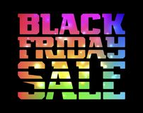 Black Friday Sale. Promotion poster with colorful lettering Stock Image