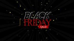 Black Friday Sale on Radial Rays Background 4K Loop