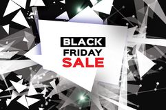 Black Friday Sale. Realistic fiery explosion. Big Sale. Discount.. Trendy Geometric elemets and frame in paper cut style. For brochure, flyer. Simple geometry Stock Photos