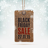 Black Friday sale. Realistic, vintage price tag Stock Photography