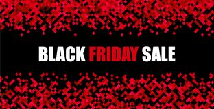 Black friday sale red abstract promotion banner. Advertising for store. Vector background. r royalty free illustration