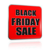 Black friday sale red black banner Royalty Free Stock Images