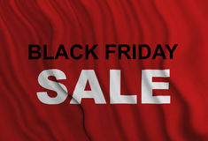 Black friday sale. Red flag with black friday sale Stock Photos