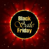Black Friday Sale on red starry background. Illustration Royalty Free Stock Image