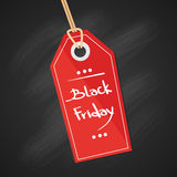 Black Friday Sale Red Tag Banner Royalty Free Stock Photo