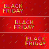 Black friday sale. Red web banner. Advertising. Stock Images