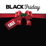 Black Friday sale ribbon background Stock Image