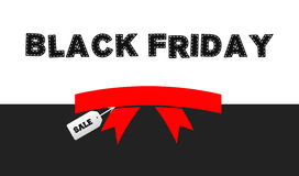 Black Friday sale ribbon background Royalty Free Stock Images