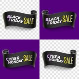 Black friday sale ribbon Royalty Free Stock Images