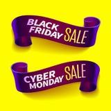 Black friday sale ribbon Royalty Free Stock Photo