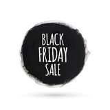 Black friday sale round watercolor banner Stock Photo