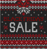 Black Friday Sale: Scandinavian or russian style knitted embroid Stock Photos