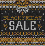 Black Friday Sale: Scandinavian or russian style knitted embroid Stock Photography