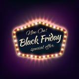 Black friday sale shining typographical background Royalty Free Stock Photo