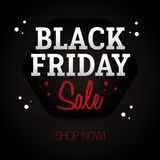 Black Friday Sale - shoppa nu Vektor Illustrationer