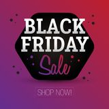 Black Friday Sale - shoppa nu Royaltyfri Illustrationer