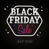Black Friday Sale - shoppa nu Royaltyfri Bild