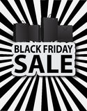Black friday sale with shopping bags. Poster sale royalty free illustration