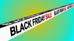 Black Friday sale sign banner background for promo, concept of sale and clearance 3D rendering royalty free illustration